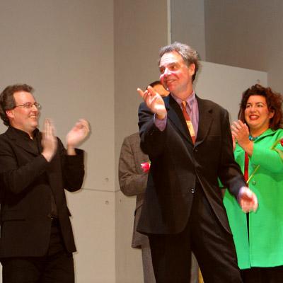 Michael Schnack, John Jiler und Murielle Stadelmann, 13.1.2005, Foto: Martin Bruny
