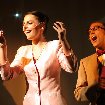 Elisabeth Sikora & Lutz Standop als Janet & Brad, 22.1.2005, Foto: Martin Bruny