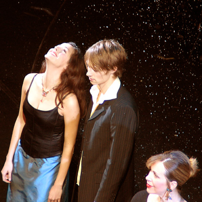 Marjan Shaki, Lukas Perman und Luzia Nistler, 05.12.2004, Foto: Martin Bruny